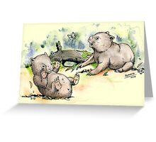 Playful little wombats. Greeting Card