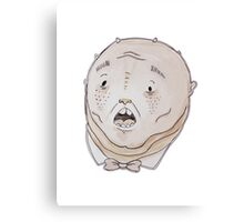 Pudgy cartoon creature water-colour Canvas Print
