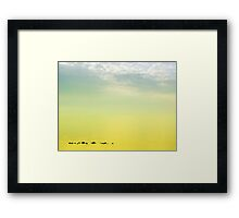 Zen seascape with rocks Framed Print