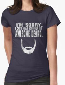 Awesome Beard Womens Fitted T-Shirt