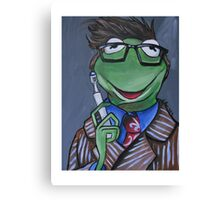 Kermit, Tenth Doctor Canvas Print