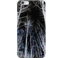 Negative trees iPhone Case/Skin