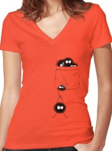 A Pocket Full of Soot Women's Fitted V-Neck T-Shirt