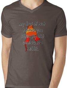 Taken Seriously Mens V-Neck T-Shirt