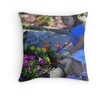 Green thumb Throw Pillow