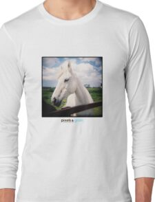 Holga White Horse Long Sleeve T-Shirt