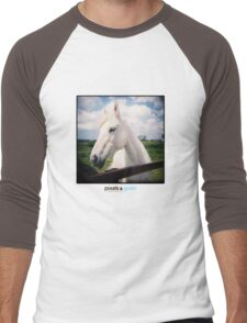 Holga White Horse Men's Baseball ¾ T-Shirt