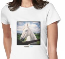 Holga White Horse Womens Fitted T-Shirt