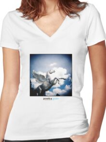 Holga Zinc Horse Women's Fitted V-Neck T-Shirt