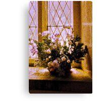 Textured Flowers Canvas Print