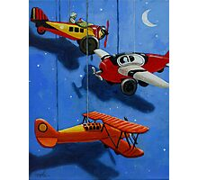 Flying Dreams - airplane painting Photographic Print