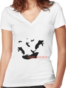 Shoe Love Women's Fitted V-Neck T-Shirt