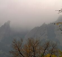 Out of the Mist - Flatirons - Boulder, Colorado by William Gordon