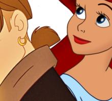 Disney Cross over-JimxAriel Sticker