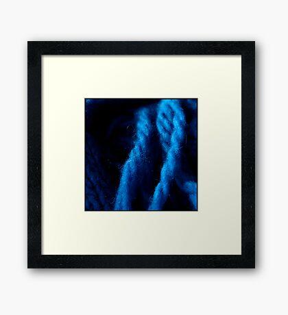 Fuzzy Yarn Framed Print