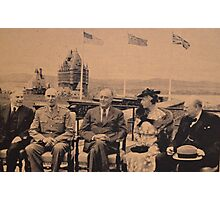 Distinguished Guests of Canada at Famous Quebec Conference. Photographic Print