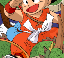 Kid Goku & Shenron Sticker
