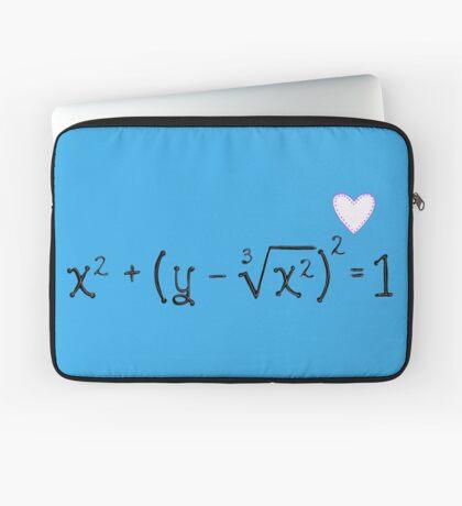 Math heart (blue) Laptop Sleeve