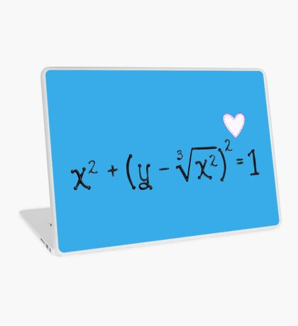 Math heart (blue) Laptop Skin