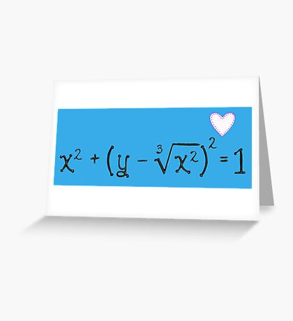 Math heart (blue) Greeting Card