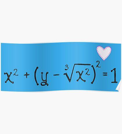 Math heart (blue) Poster