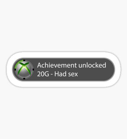 Achievement Unlocked - 20G Had sex Sticker