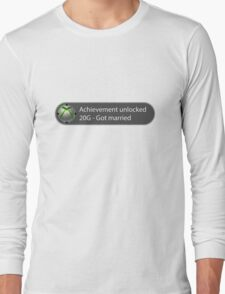 Achievement Unlocked - 20G Got married Long Sleeve T-Shirt