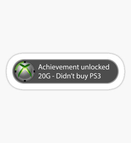 Achievement Unlocked - 20G Didn't buy PS3 Sticker