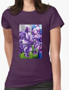 Sweet Pea Evolution Womens Fitted T-Shirt