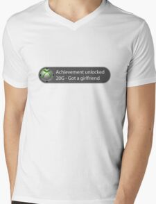 Achievement Unlocked - 20G Got a girlfriend Mens V-Neck T-Shirt