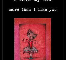 Original CAT ART by ANGIECLEMENTINE WORDS by Angieclementine