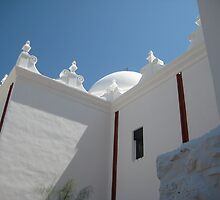 Dome and Baptistry Window of San Xavier by Michael Cohen
