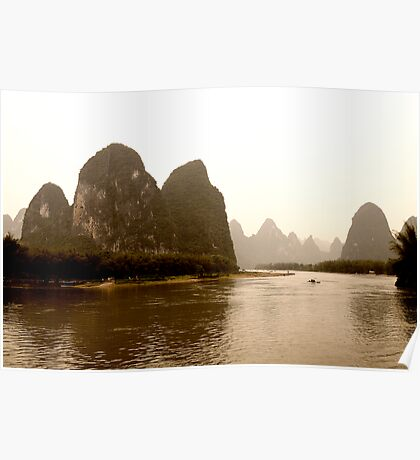 traditionnal landscape of china Poster