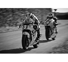 Micheal & William Dunlop @ Killalane Road Races Photographic Print