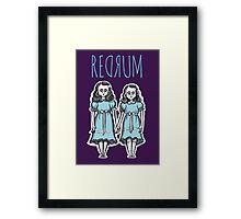REDRUM Framed Print