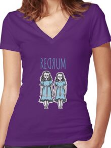 REDRUM Women's Fitted V-Neck T-Shirt