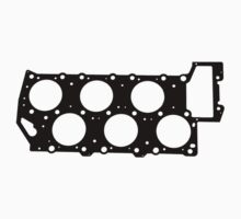 VR6 Cylinder Head (Black Print) by Alvin Van-Der Shpoople