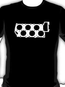 VR6 Cylinder Head (White Print) T-Shirt