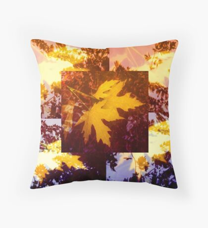 Maple Leaves Under Water Throw Pillow