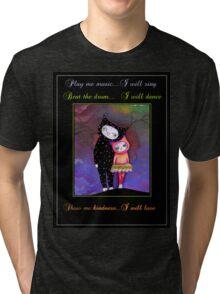 Original Cat Love art by ANGIECLEMENTINE WORDS Tri-blend T-Shirt
