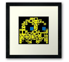 Pac Man Ghost Controllers (blue eyes) Framed Print