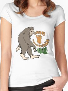 Gone Squatchin Bigfoot Women's Fitted Scoop T-Shirt
