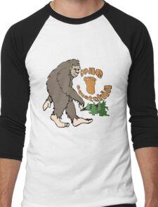 Gone Squatchin Bigfoot Men's Baseball ¾ T-Shirt