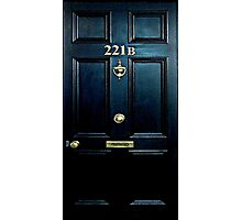 Haunted Blue Door with 221b number Photographic Print