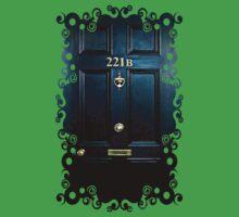 Haunted Blue Door with 221b number One Piece - Short Sleeve