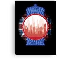London and the Tardis - Sticker Canvas Print