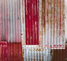 Makeshift Red Fence by Marnie Hibbert