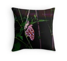 Birth on a Passion Vine Throw Pillow