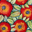 Red Pansies by Rachel Ireland-Meyers