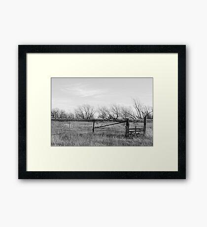 Gate in Kansas Field Framed Print